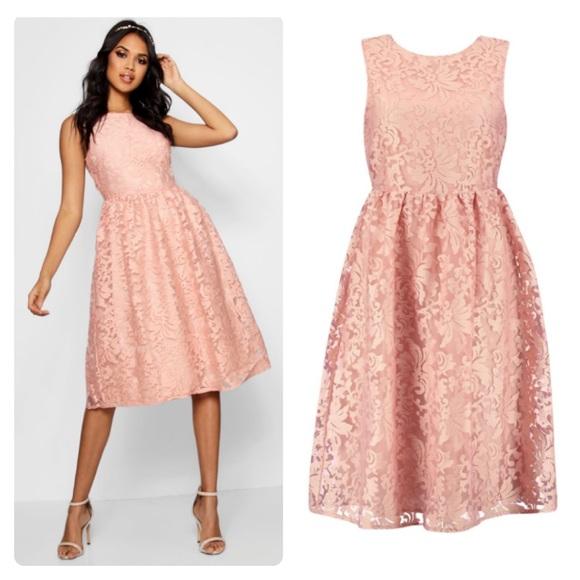 d307c68d760e Boohoo Dresses | Boutique Embroidered Organza Skater Dress 8 | Poshmark